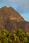 Diamond Head Crater above Waikiki Beach, Honolulu, Oahu, Hawaii