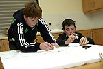 Conor Hoey and Cillian O'Connor Barry who are making a Design Model of Julianstown Village for the Village Design Statement in Association with the Residents Association and supported by the Heritage Council and Meath County Council....Photo NEWSFILE/Jenny Matthews.(Photo credit should read Jenny Matthews/NEWSFILE)....This Picture has been sent you under the condtions enclosed by:.Newsfile Ltd..The Studio,.Millmount Abbey,.Drogheda,.Co Meath..Ireland..Tel: +353(0)41-9871240.Fax: +353(0)41-9871260.GSM: +353(0)86-2500958.email: pictures@newsfile.ie.www.newsfile.ie.FTP: 193.120.102.198.