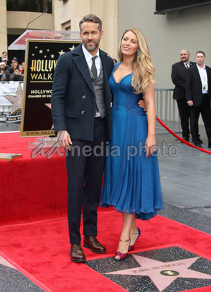 15 December 2016 - Hollywood, California - Ryan Reynolds, Blake Lively. Ryan Reynolds Honored With Star On The Hollywood Walk Of Fame. Photo Credit: F. Sadou/AdMedia