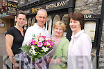 Josephine O'Flaherty, pictured with Catherine O'Brien, Paddy McGuire and Margaret Donnella as she celebrated her retirement from Bricin, Killarney on Friday after 20 years service...................