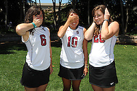 STANFORD, CA - AUGUST 12:  Katie Mitchell, Stephanie Byrne, and Devon Holman during picture day on August 12, 2010 in Stanford, California.