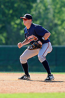 Infielder Jacob Schrader (51) of the Atlanta Braves farm system in a Minor League Spring Training workout on Tuesday, March 17, 2015, at the ESPN Wide World of Sports Complex in Lake Buena Vista, Florida. (Tom Priddy/Four Seam Images)