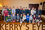 Pictured in the Devon Inn on Friday night for the Templeglantine juniors awards night were the players and management of the U14 county shield winning team 2014. All medals were presented by Limerick hurler James Ryan.