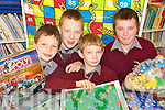 CHAIRMEN OF THE BOARDS: Pupils from Lyreacrompane National School in North Kerry enjoying some of the board games as part of Board Games Day at the school on Friday last in aid of Downs Syndrome..L/r. William O'Connor, Padraig O'Donoghue, Richard O'Regan and Stephen Ashe.   Copyright Kerry's Eye 2008