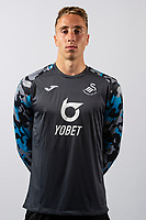 Steven Benda of Swansea City poses for a head shot at Fairwood Training Ground in Swansea, Wales, UK. Thursday 18, July 2019