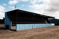 The main stand at Bungay Town FC Football Ground, Maltings Meadow, Ditchingham, Suffolk, pictured on 29th August 1995