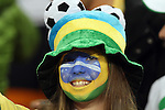 20 JUN 2010: Brazil fan. The Brazil National Team defeated the C'ote d'Ivoire National Team 3-1 at Soccer City Stadium in Johannesburg, South Africa in a 2010 FIFA World Cup Group G match.