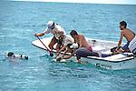 Dr Sam Gruber & Aya Gruber, Working Up Lemon Shark With Peter Filming, Jon, Jean, & Rick