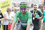 Green Jersey holder Peter Sagan (SVK) Bora-Hansgrohe heads to sign on before the start of Stage 14 of the 2019 Tour de France running 117.5km from Tarbes to Tourmalet Bareges, France. 20th July 2019.<br /> Picture: Colin Flockton | Cyclefile<br /> All photos usage must carry mandatory copyright credit (© Cyclefile | Colin Flockton)