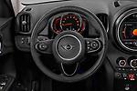 Car pictures of steering wheel view of a 2020 MINI Countryman Cooper-Signature 5 Door Hatchback Steering Wheel