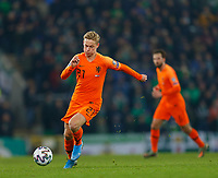 16th November 2019; Windsor Park, Belfast, Antrim County, Northern Ireland; European Championships 2020 Qualifier, Northern Ireland versus Netherlands; Frenkie de Jong of Netherlands makes a run on the ball - Editorial Use