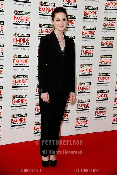 Bonnie Wright arriving for the Empire Film Awards 2012 at the Grosvenor House Hotel, London. 25/03/2012 Picture by: Steve Vas / Featureflash