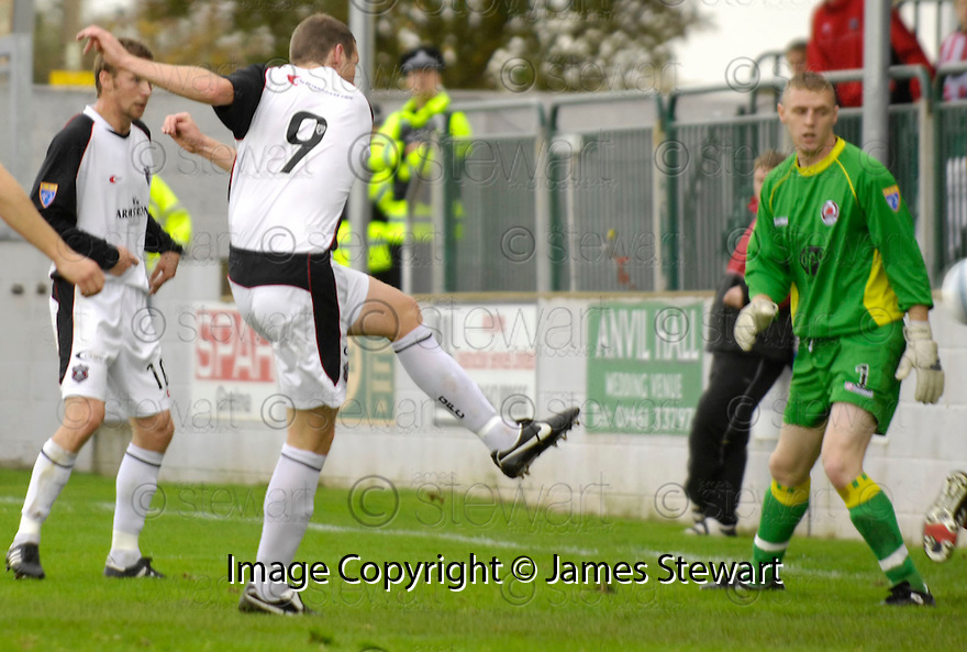21/10/2006       Copyright Pic: James Stewart.File Name :sct_jspa08_gretna_v_clyde.KENNY DEUCHAR SCORES GRETNA'S FIRST.Payments to :.James Stewart Photo Agency 19 Carronlea Drive, Falkirk. FK2 8DN      Vat Reg No. 607 6932 25.Office     : +44 (0)1324 570906     .Mobile   : +44 (0)7721 416997.Fax         : +44 (0)1324 570906.E-mail  :  jim@jspa.co.uk.If you require further information then contact Jim Stewart on any of the numbers above.........