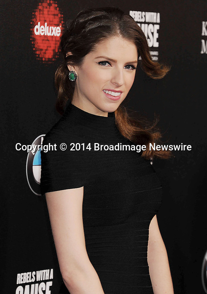 Pictured: Anna Kendrick<br /> Mandatory Credit &copy; Joseph Gotfriedy/Broadimage<br /> 2nd Annual Rebel With A Cause Gala - Arrivals<br /> <br /> 3/20/14, Hollywood, California, United States of America<br /> <br /> Broadimage Newswire<br /> Los Angeles 1+  (310) 301-1027<br /> New York      1+  (646) 827-9134<br /> sales@broadimage.com<br /> http://www.broadimage.com