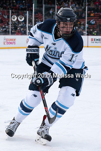 Nolan Vesey (Maine - 13) - The University of Maine Black Bears defeated the University of Connecticut Huskies 4-0 at Fenway Park on Saturday, January 14, 2017, in Boston, Massachusetts.