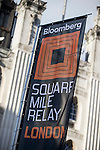 Branding on the race before Bloomberg Square Mile Relay in London, United Kingdom. Photo by Ian Roman / Power Sport Images
