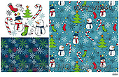 GIFT WRAPS, GESCHENKPAPIER, PAPEL DE REGALO, Christmas Santa, Snowman, Weihnachtsmänner, Schneemänner, Papá Noel, muñecos de nieve, paintings+++++,USGTJF360,#gp#,#x# ,Lamont