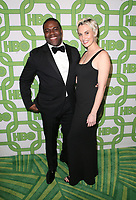 BEVERLY HILLS, CA - JANUARY 6: Sam Richardson, Nicole Boyd, at the HBO Post 2019 Golden Globe Party at Circa 55 in Beverly Hills, California on January 6, 2019. <br /> CAP/MPI/FS<br /> &copy;FS/MPI/Capital Pictures