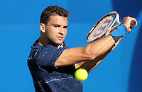 Grigor Dimitrov (Bulgaria) during his match versus James Ward (Great Britain) - Aegon Tennis Championships - 10/06/14 - MANDATORY CREDIT: Rob Newell - Self billing applies where appropriate - 07808 022 631 - robnew1168@aol.com - NO UNPAID USE - BACS details for payment: Rob Newell A/C 11891604 Sort Code 16-60-51