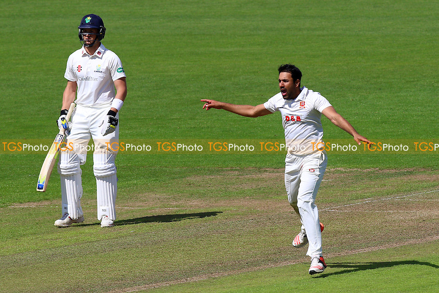 Ravi Bopara of Essex with an appeal for a wicket during Glamorgan CCC vs Essex CCC, Specsavers County Championship Division 2 Cricket at the SSE SWALEC Stadium on 22nd May 2016