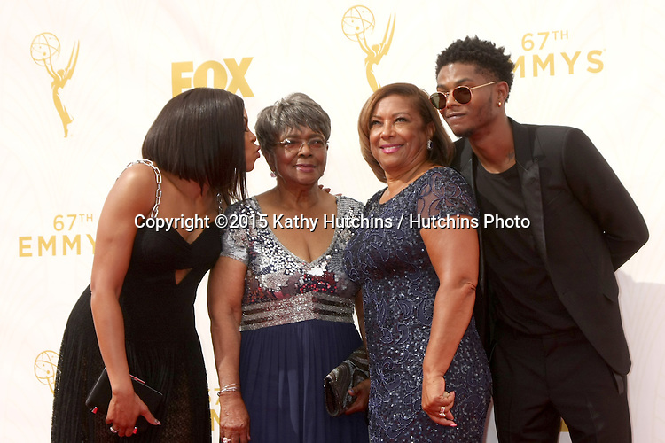 LOS ANGELES - SEP 20:  Taraji P Henson, Family at the Primetime Emmy Awards Arrivals at the Microsoft Theater on September 20, 2015 in Los Angeles, CA