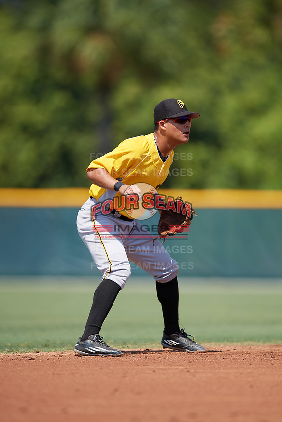 Pittsburgh Pirates shortstop Francisco Acuna (3) during an Instructional League intrasquad black and gold game on September 28, 2017 at Pirate City in Bradenton, Florida.  (Mike Janes/Four Seam Images)