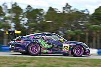 Porsche GT3 Cup Series<br /> Sebring February Test<br /> Sebring International Raceway, Sebring, Florida, USA<br /> Wednesday 21 February 2018<br /> #52 Kelly-Moss Road and Race, Porsche 991 / 2016, GT3G: Kurt Fazekas<br /> World Copyright: Richard Dole<br /> LAT Images