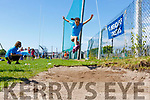 Kinga Mikolajczyk from Ardfert doing the long jump at the St. Brendan's A.C. Open Sports Day in Ardfert on Monday.