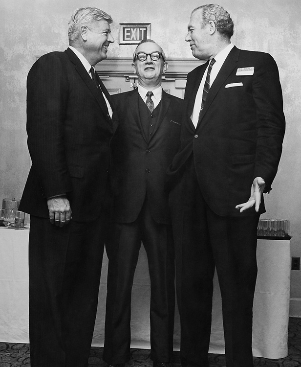 Rep. John P. Saylor, Pa., Paul Jessup, and VP Kennecott Copper, at a party at University Club of Washington, DC. (Photo by CQ Roll Call)