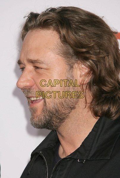 """RUSSELL CROWE.""""3:10 To Yuma"""" Los Angeles Premiere held at the Mann National Theater, Westwood, California, USA..August 21st, 2007.310 three ten headshot portrait beard facial hair side view profile .CAP/ADM/RE.©Russ Elliot/AdMedia/Capital Pictures"""