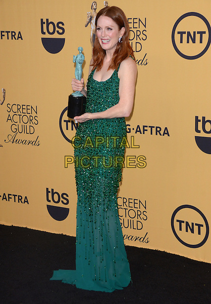 25 January 2015 - Los Angeles, California - Julianne Moore.<br /> 21st Annual SAG Awards Press Room held at the Los Angeles Shrine Exposition Center. <br /> CAP/ADM/BT<br /> &copy;BT/ADM/Capital Pictures