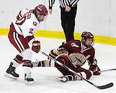 Kate Buesser (Harvard - 20), Katelyn Kurth (BC - 14) - The Harvard University Crimson defeated the Boston College Eagles 5-0 in their Beanpot semi-final game on Tuesday, February 2, 2010 at the Bright Hockey Center in Cambridge, Massachusetts.