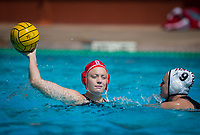 STANFORD, CA - March 23, 2019: Cassidy Wiley at Avery Aquatic Center. The #2 Stanford Cardinal took down the #18 Harvard Crimson 20-7.