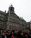Crowd at Dam Square, WW2 Remembrance Day Ceremony in Amsterdam May 4th 20009. The Dutch Queen Beatrix attended, under heavy security and sniper cover following an attempted attack on the Royal Family on Queens Day in Apeldoorn