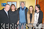 Helping out at the fundraiser for the Cahersiveen Community Centre in Cahersiveen on Saturday night last were l-r; Dermot Foley, Helen O'Leary, Ritchie MacCarthy, Emma O'Shea & Marion Cournane.