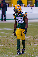 Green Bay Packers safety Kentrell Brice (29) prior to a game against the New York Giants on January 8th, 2017 at Lambeau Field in Green Bay, Wisconsin.  Green Bay defeated New York 38-13. (Brad Krause/Krause Sports Photography)