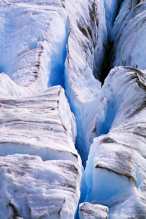 Crevasse in Blue Glacier, Olympic National Park, Washington