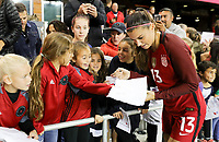 San Jose, CA - Sunday November 12, 2017: Alex Morgan during an International friendly match between the Women's National teams of the United States (USA) and Canada (CAN) at Avaya Stadium.