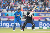 Henry Nicholls (New Zealand) whips off his legs during India vs New Zealand, ICC World Cup Semi-Final Cricket at Old Trafford on 9th July 2019