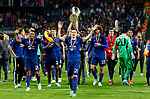 Ander Herrera of Manchester United celebates after the UEFA Europa League Final match at the Friends Arena, Stockholm. Picture date: May 24th, 2017.Picture credit should read: Matt McNulty/Sportimage