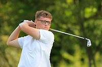 James Finnegan (Cregmore Park) on the 1st tee during the Connacht U12, U14, U16, U18 Close Finals 2019 in Mountbellew Golf Club, Mountbellew, Co. Galway on Monday 12th August 2019.<br /> <br /> Picture:  Thos Caffrey / www.golffile.ie<br /> <br /> All photos usage must carry mandatory copyright credit (© Golffile | Thos Caffrey)