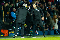 3rd March 2020; The Hawthorns, West Bromwich, West Midlands, England; English FA Cup Football, West Bromwich Albion versus Newcastle United; Newcastle United Manager Steve Bruce shakes hands with West Bromwich Albion Manager Slaven Bilic's after the final whistle