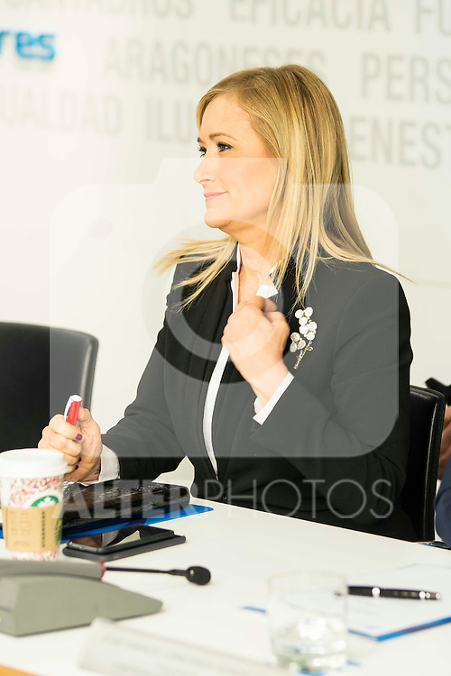 Cristina Cifuentes during the meeting with the national executive committee of Partido Popular at Genova in Madrid. May 03, 2016. (ALTERPHOTOS/Borja B.Hojas)