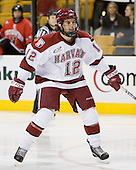 Paul Dufault (Harvard - 12) - The Northeastern University Huskies defeated the Harvard University Crimson 3-1 in the Beanpot consolation game on Monday, February 12, 2007, at TD Banknorth Garden in Boston, Massachusetts.