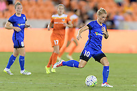 Houston, TX - Sunday Sept. 25, 2016: Jessica Fishlock during a regular season National Women's Soccer League (NWSL) match between the Houston Dash and the Seattle Reign FC at BBVA Compass Stadium.