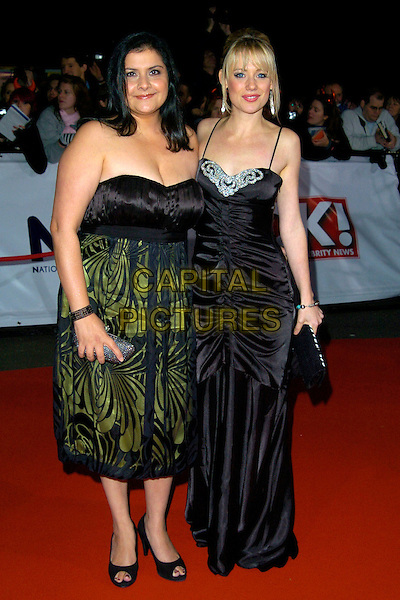 NINA WADIA & KELLIE SHIRLEY.The National Television Awards, Royal Albert Hall, London, England..October 31st, 2007.TV NTA full length kelly silver jewel encrusted dress ruched black strapless green pattern .CAP/CAN.© Can Nguyen/Capital Pictures