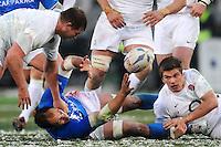 """Sergio Parisse Italia, Phil Dowson England.Roma 11/20/2012 Stadio """"Olimpico"""".Rugby 6 Nations Tournament - Torneo delle 6 Nazioni 2012.Italia Vs Inghilterra - Italy Vs England .Foto Insidefoto Andrea Staccioli"""