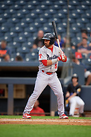 Reading Fightin Phils Josh Stephen (5) at bat during an Eastern League game against the Akron RubberDucks on June 4, 2019 at Canal Park in Akron, Ohio.  Akron defeated Reading 8-5.  (Mike Janes/Four Seam Images)