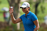 CHON BURI, THAILAND - FEBRUARY 19:  Yani Tseng of Taiwan acknowledges to the crowd on the 15th green during day three of the LPGA Thailand at Siam Country Club on February 19, 2011 in Chon Buri, Thailand. Photo by Victor Fraile / The Power of Sport Images