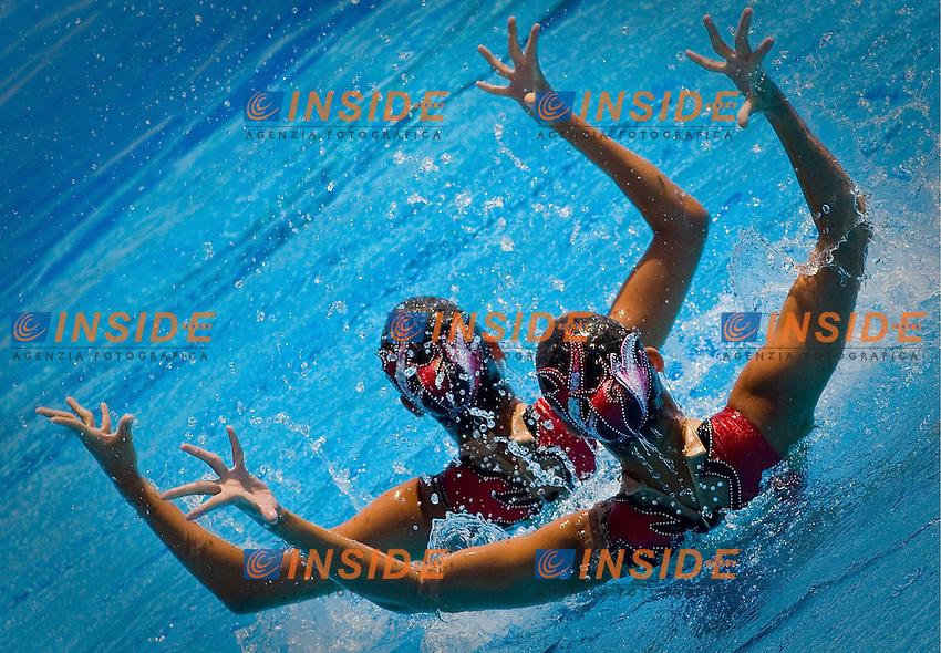 Roma 24st July 2009 - 13th Fina World Championships From 17th to 2nd August 2009..Duet Free..JPN Japan..INUI Yukiko 4 DEC 1990..SAKAI Mariko 3 DEC 1990..photo: Roma2009.com/InsideFoto/SeaSee.com